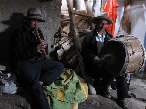 Music to accompany our traditional Pachamanka -- our send-off feast from Vicos