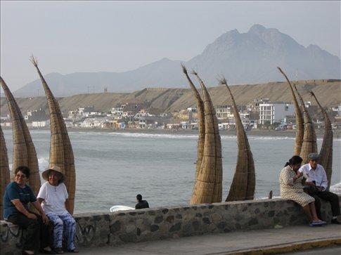 The beach at Huanchaco, Peru