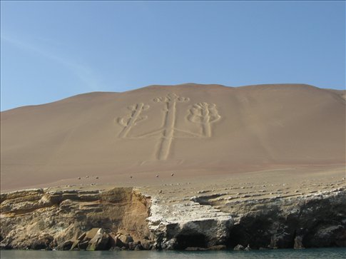 The Candalabra -- a Nazca Line-like drawing of unknown origin off Paracas, Peru