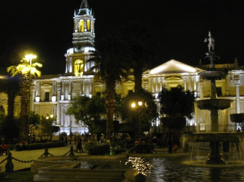 Arequipa plaza - Mi's favorite plaza in South America