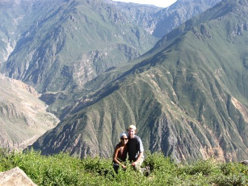 A mirador (lookout) at the top of Canyon del Colca - twice as deep as the Grand Canyon!