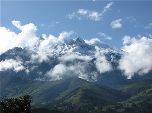 The peaks appear again during our time in the Quechua village of Vicos, Peru
