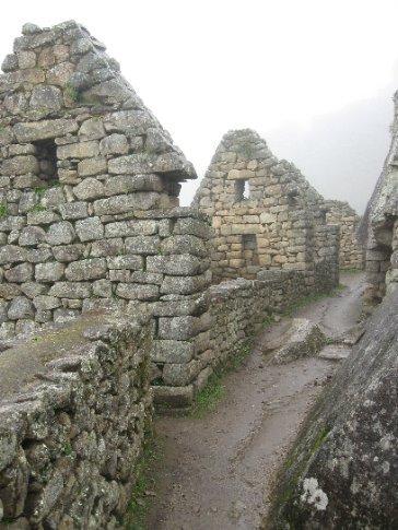 Street view at Machu Picchu