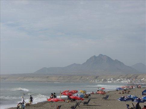 The beach at Hunachaco, Peru