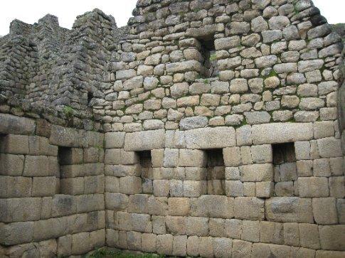Two styles of Inca stonework