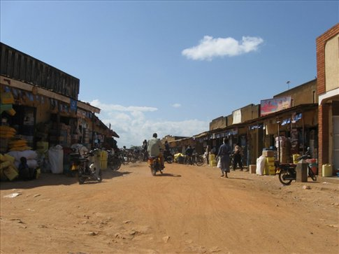 The market in Kyotera, Uganda -- the closest major town to KAASO school