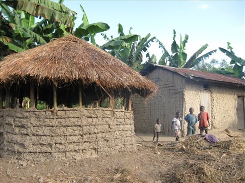 A traditional home in the Uganda bush
