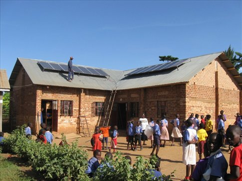 New solar panels, donated by the Rotary Club, bring constant daily electricity.