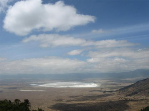 Our first view of Ngorongoro Crater...