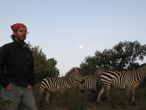 And so Ive hung out with the zebra before dinner...
