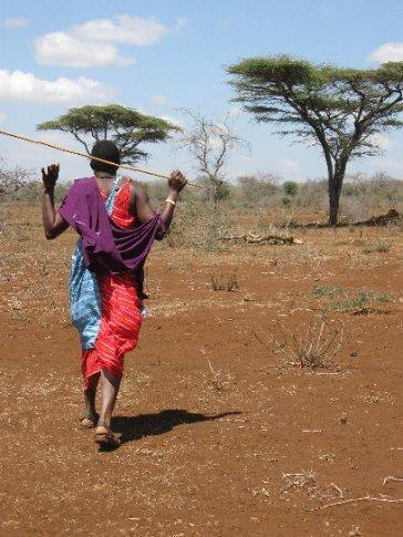 Herder, farmer, school chairman, community leader - he joyfully tours us around the bush that has nourished Maasai animals for centuries.