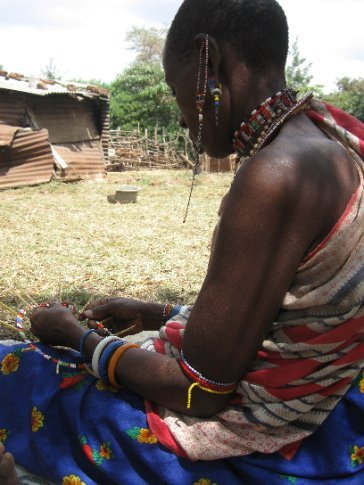 Due to rising need to supplement their families' incomes, women are now making and selling jewelry traditionally used only within the Maasai community.