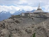 The Shanti Stupa (a physical depiction of the teachings of the Buddha) in Leh, with the Himalaya offering protection.: by ivan_miral, Views[346]