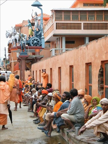 We were in Haridwar during an annual pilgramage period -- fascinating people!
