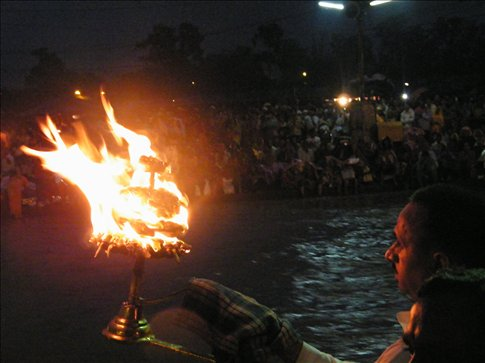 Each night in Haridwar is marked by a sacred aarti ceremony at the Ganges River