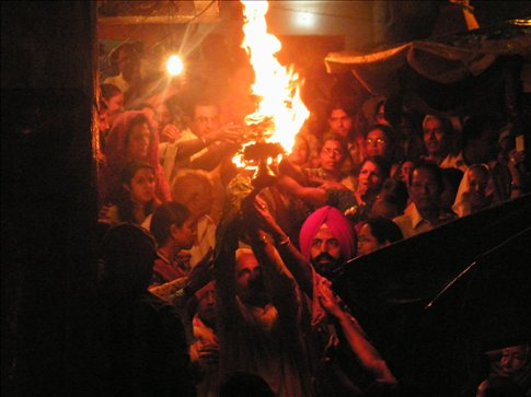 Sacred fire is an essential element of the aarti ceremony...