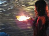 ...including offerings to the Ganges of leaf-boats w/ flowers, fire & incense: by ivan_miral, Views[823]