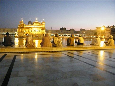 The setting sun created an aura reflecting what the Temple already emanates