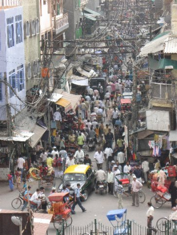 Just another calm, serene day in the streets of Delhi. We think it was 100 degrees with 99 percent humidity that day!