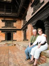 Ivan's parents sitting within the courtyard of the informative Patan Museum, with its refined Nepali architecture.: by ivan_miral, Views[769]