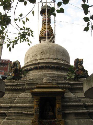 On the streets of Kathmandu, there seems to be a religious shrine of one kind or another in every possible nook and cranny.