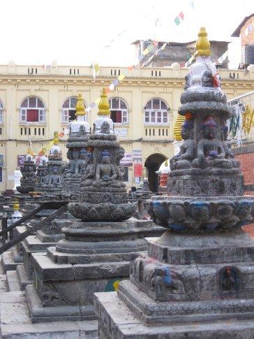 Another string of Kathmandu's street shrines,