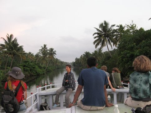 After leaving Amma's Amritapuri Ashram behind, we caught a ferry to Kollam -- winding down one of the main canals of Kerala's famous Backwaters. What a very sweet ride...