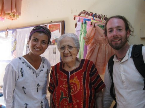 We were told that there are now only six elderly women and four men remaining from the Jewish community. Here we were fortunate enough to meet Sarah -- one of the six Cochin Jewish woman. Her parents were from Baghdad. At 84-years-old, she still runs a thriving embroidery shop.