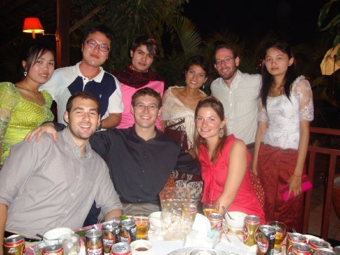 Thanks to our TGC friends, we were invited to attend a Khmer (Cambodian) wedding - here we are in the classic