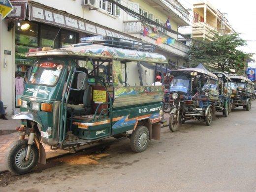 Our ride: the Laos version of tuk-tuks.
