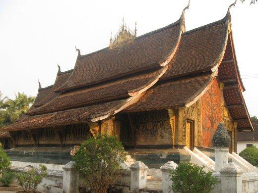 The crown jewel of all of Luang Prabang's wats -- Wat Xieng Thong.