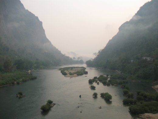 From Luang Prabang, we journeyed north to the town of Nong Khiaw, which offered views like this of the Nam Ou River.