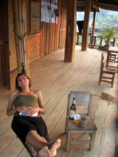 All that trekking requires time for some other Laos traditions -- hammock resting and sipping on BeerLaos -- seriously the best beer we have tased this year.
