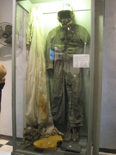 Hanoi also had its serious side -- including reminders of what here is called The American War. John McCain's flight jacket was displayed at the so-called