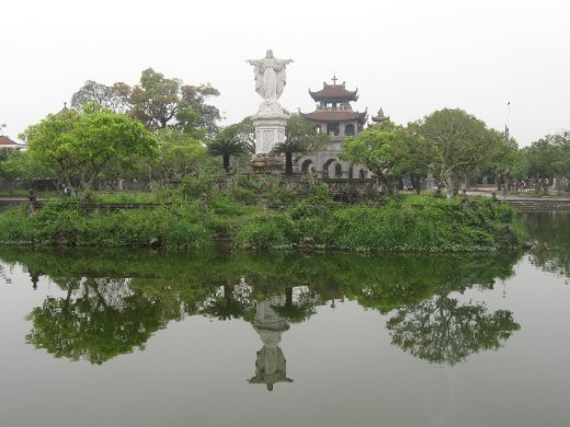 Reminiscent of our travels in South America, this statue of Jesus reigns over and offers protection to Vietnam's Christian minority.