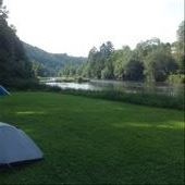 Our campsite in Passau. It has a beautiful view, great showers, washing facilities and a fridge. Wow. : by j-a-z, Views[50]