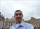 Me in front of La Basilica de San Pedro at the Vatican on Monday morning!: by jabs_was_here, Views[239]