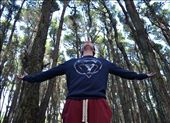 """""""I AM FREE"""" Sharing my favourite place with my brother; Waitarere Forest [1 of 3]  This is my brother Scott. He is very tall and thin for 13 just like the trees you see surrounding him. As a child I remember playing in this forest with my cousins. I enjoyed it tremendously. I love how whenever I walk into this place my breath is immediately taken away and I'm lost within the trees; I am free. Wherever I am in this forest I can hear the beach close by. I can hear the waves crashing against the shore and the wind moving freely through the trees. It always clears my mind and I always feel revitalised. It was only last weekend I was finally allowed to share this experience with Scott and like me he loves it.  I have not edited any of my photos, I love them to much as they are. I feel the darkness of the forest coming through; the depth. The photo to me, also shows exactly how I saw it with my own eyes. : by jacindasworld, Views[399]"""