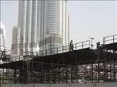 Construction of walkway with Burj Khalifa in the background                     : by jacka, Views[226]