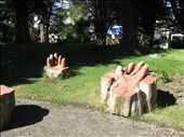 Wooden hands...these chairs are actually very comfortable.: by jacques360, Views[202]