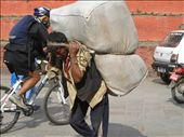 Poorest of the poor, these men called Porters, are hired to carry heavy loads.: by jagis, Views[243]