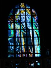 Stained glass window at St. Francis' Basilica: by james_tesol_teacher, Views[197]
