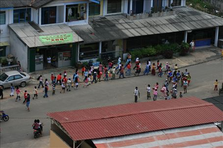 Marching Children's Band in Batam