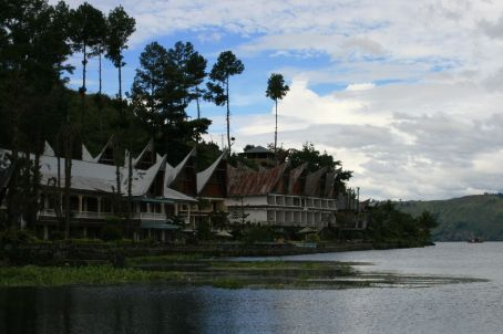 View from the Jetty at our Hotel in Lake Toba