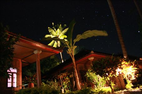 Our beautiful hut in Lovina at night (surperbly taken by James !!)