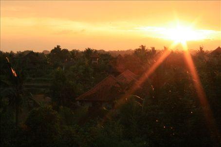 Sunset in Ubud