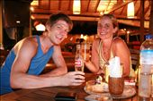 James and Lisa in Gili Trawangan (the Irish bar - just about to be served Steak and Guinness Pie!): by jamesanddan, Views[3125]
