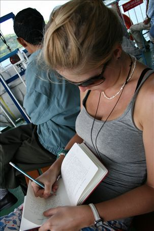 Dan Writing in her Personal journal (its a secret !!)