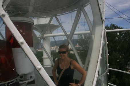 At the top of the lighthouse (Well done Danielle !!)