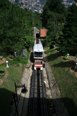 The train up Penang Hill (formally Strawberry hill)